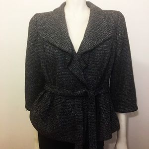 Halogen Belted tweed style jacket